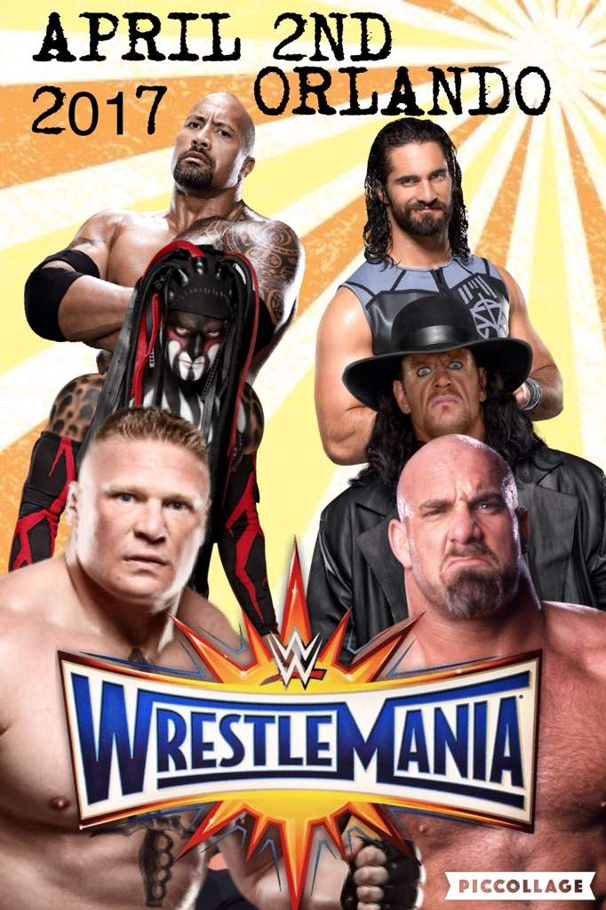 Image result for wrestlemania33 poster
