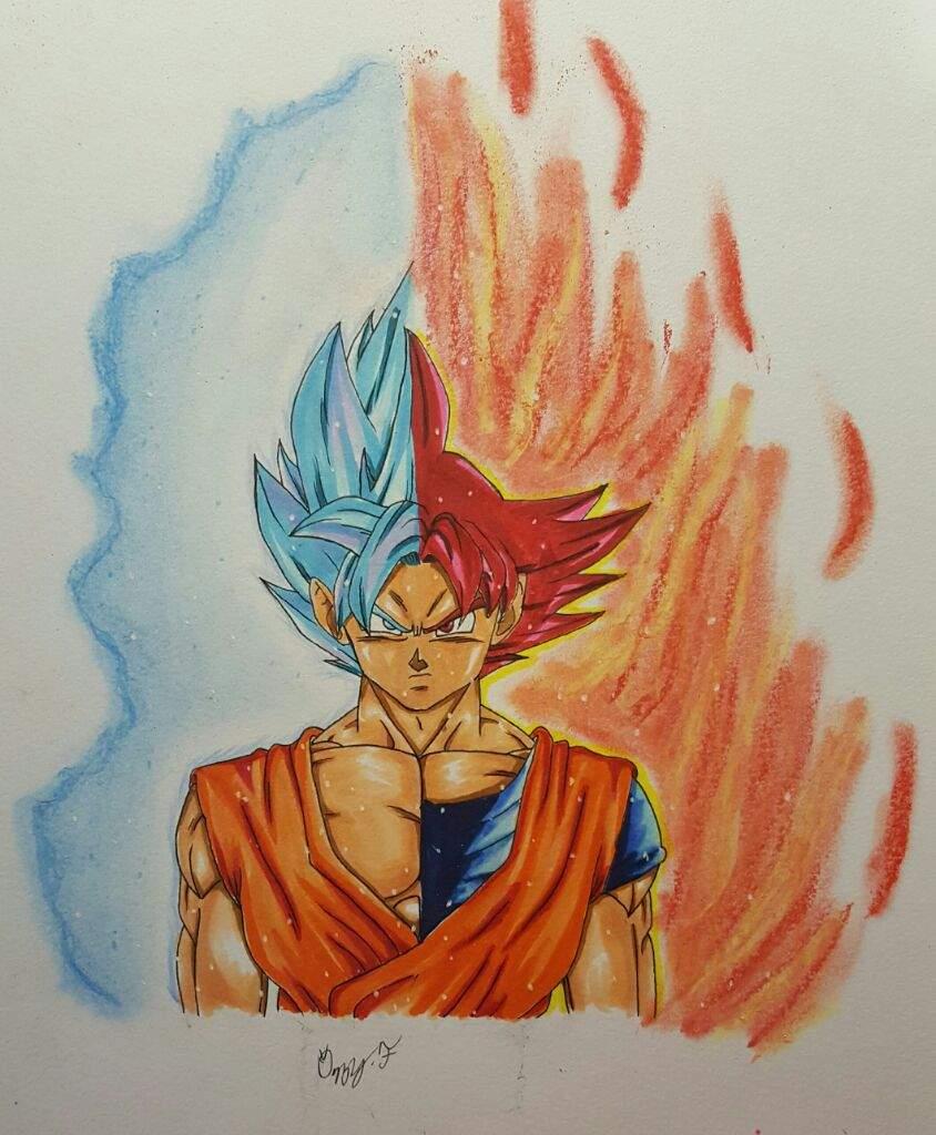 Super Saiyan God Goku Split | DragonBallZ Amino
