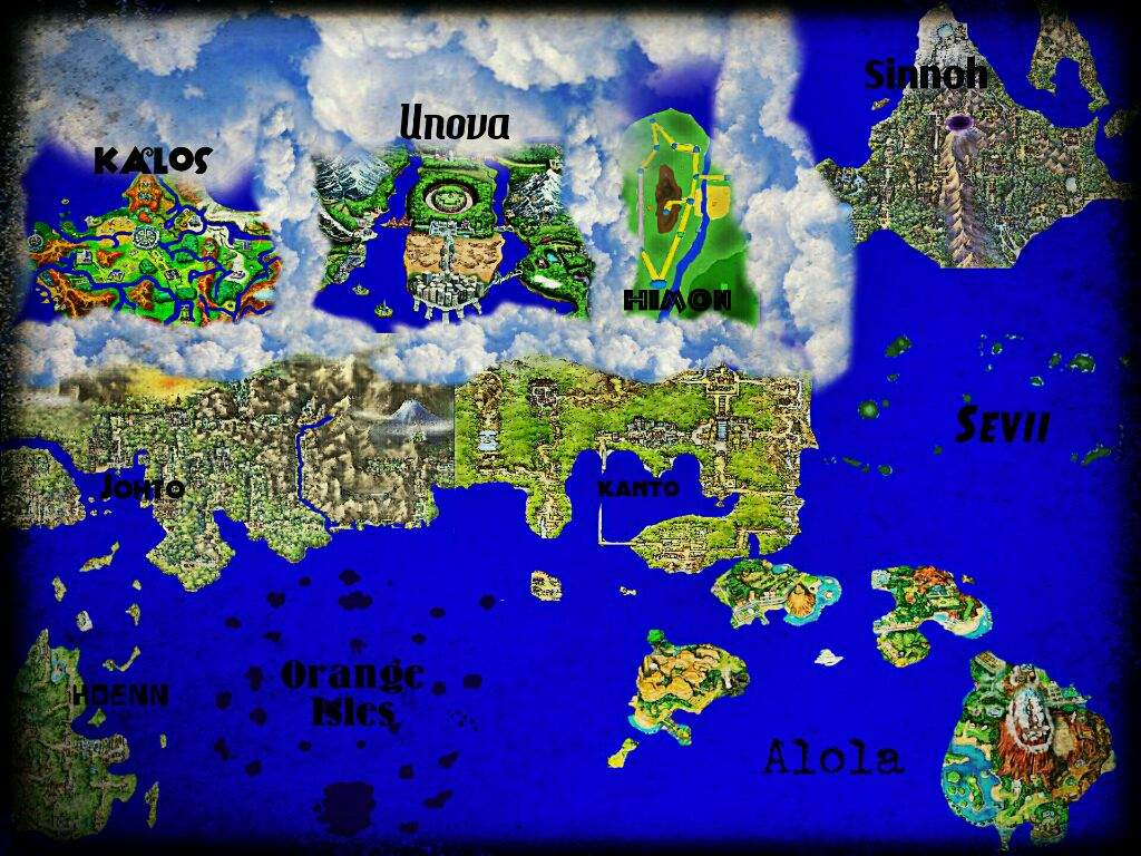Pokemon World Map Pok mon Amino