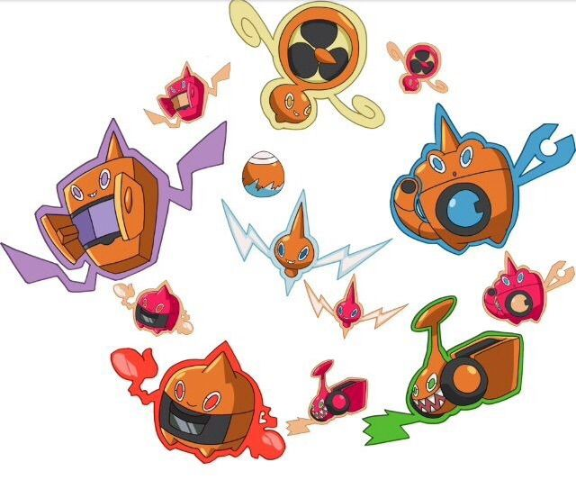 how to get different rotom forms