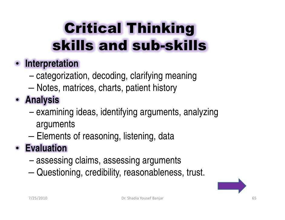 element of logic and critical thinking Critical thinking emphasizes logic and requires the questioning of assumptions, therefore, it can challenge people's biases and prejudices and cause students .