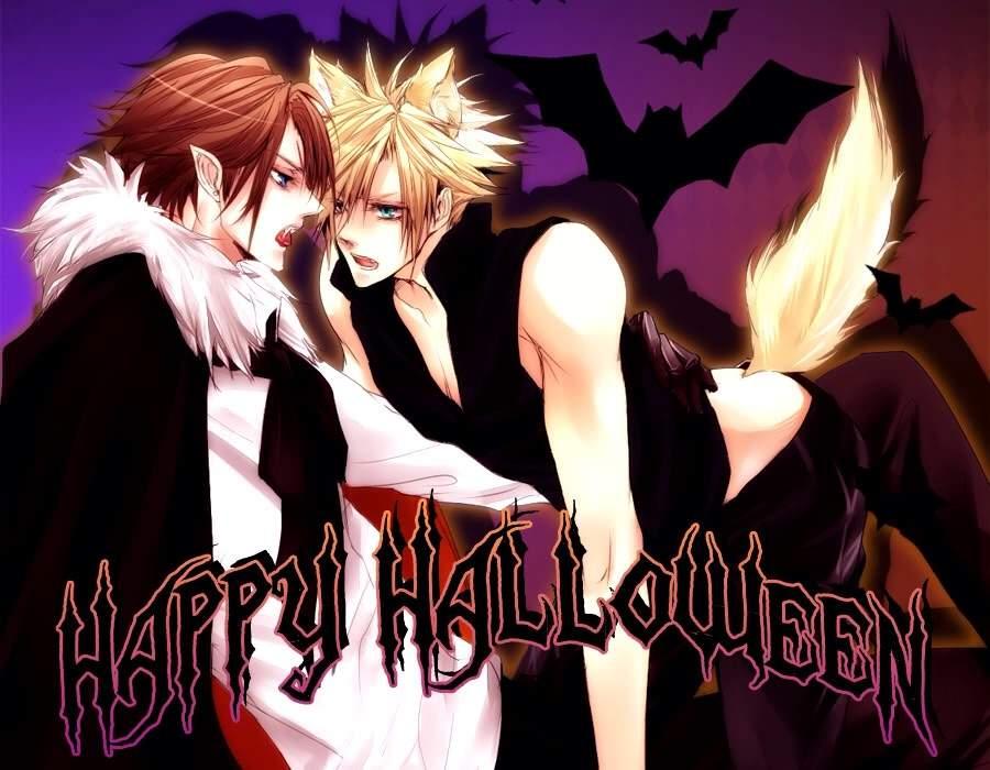Znalezione obrazy dla zapytania happy halloween yaoi