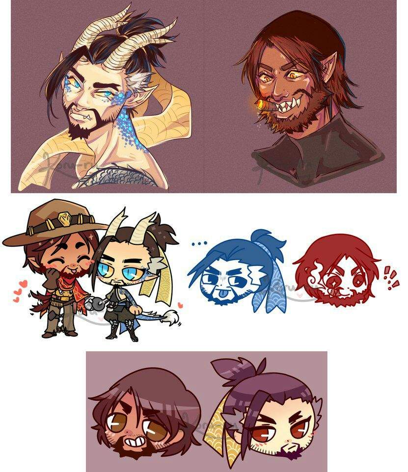 Mccree X Hanzo By - 0425