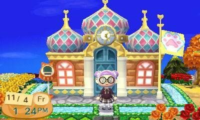 how to change the town hall in new leaf