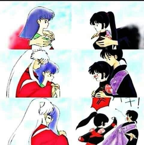 Miroku And Sango Vs Inuyasha And Kagome Anime Amino