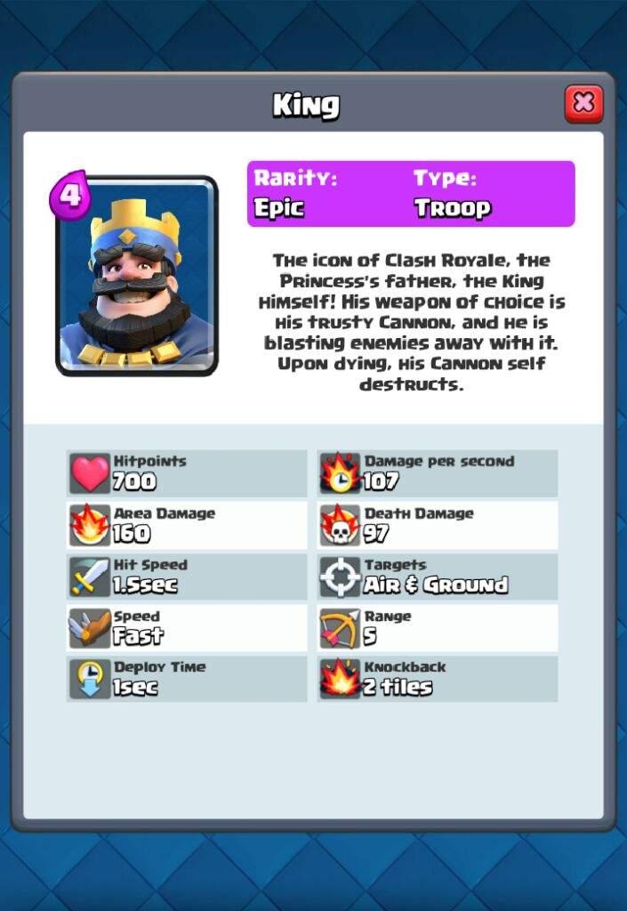 Card idea: King [With stats] | Clash Royale Amino
