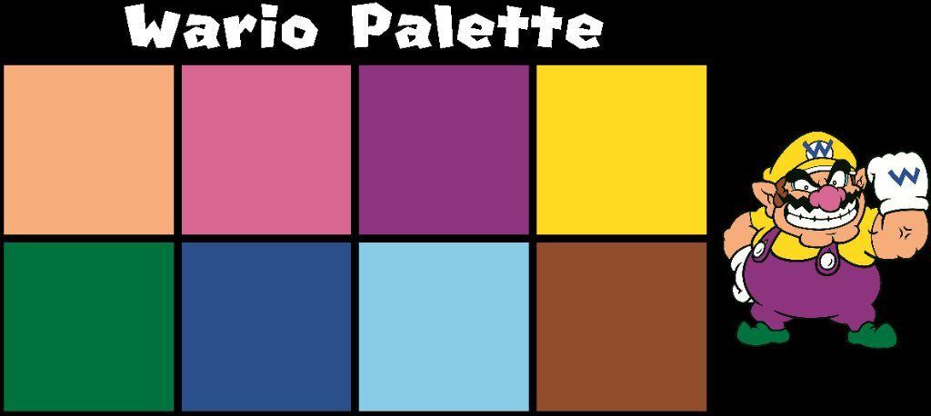 Mario 2D Artwork Official Color Palette!