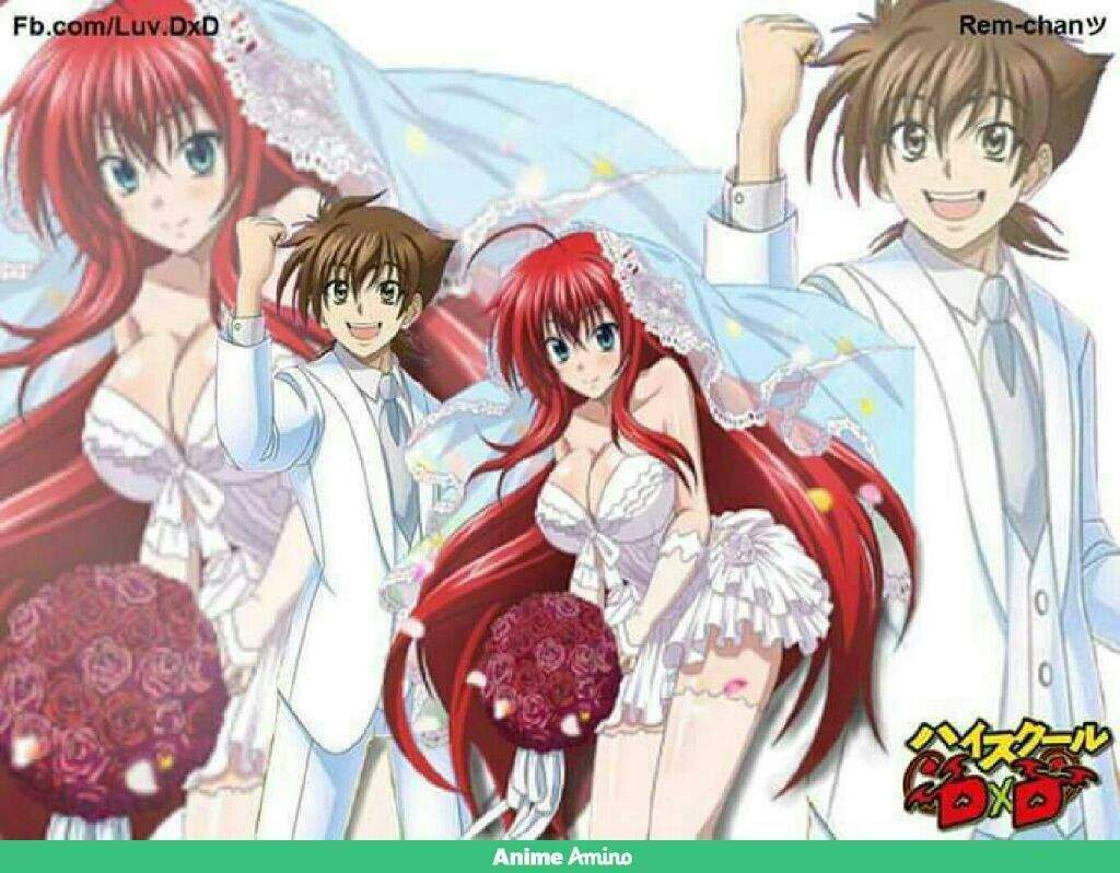 Rias and issei wedding