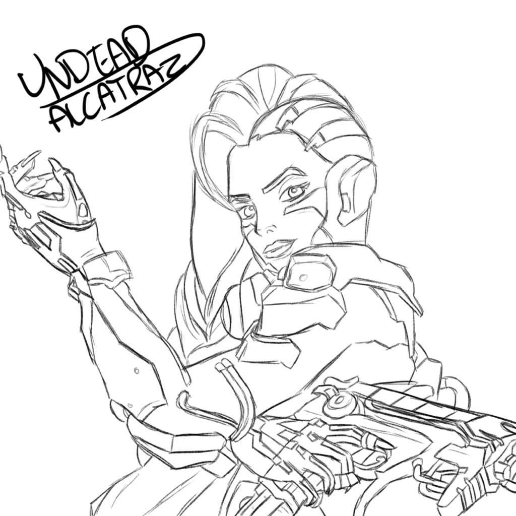 Overwatch tracer coloring pages pictures to pin on for Overwatch coloring pages