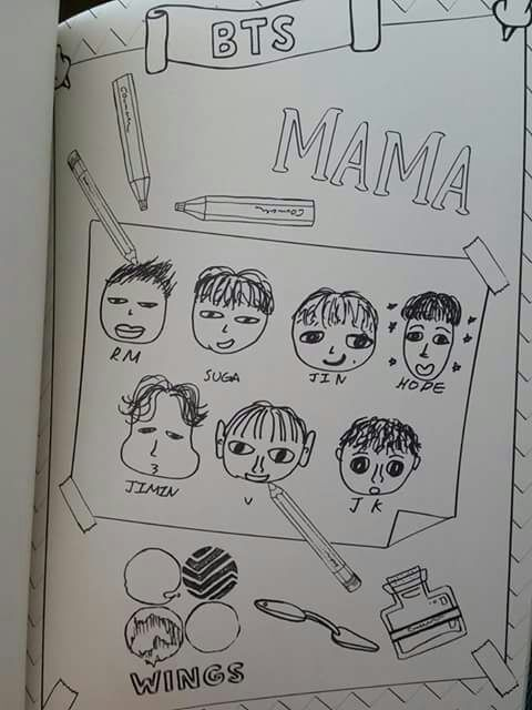 BTS Coloring Book