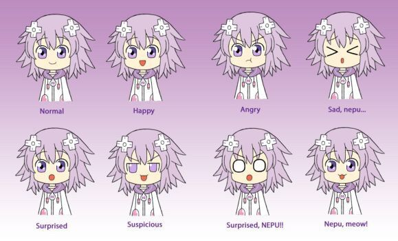 all the nep faces