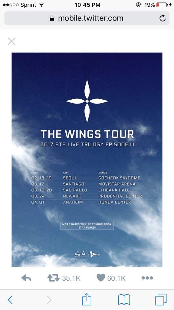 Bts Tour Dates
