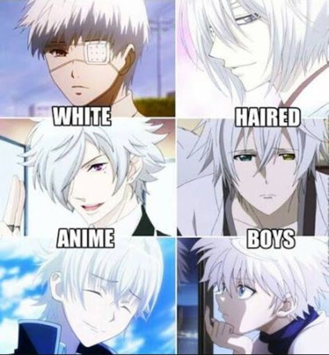 How Many White-Haired Anime Boys Can You Name? (CHALLENGE ...