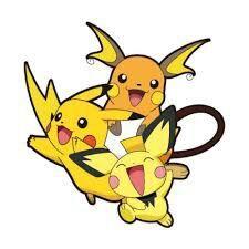 Group Of Pichu Pikachu Y Raichu