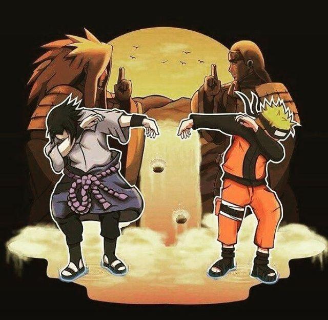 Anime Characters Dabbing : Naruto and sasuke dabbing anime amino