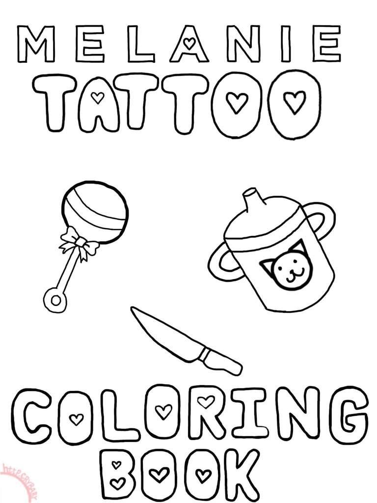 MELANIE TATTOO COLORING BOOK | Crybabies Amino