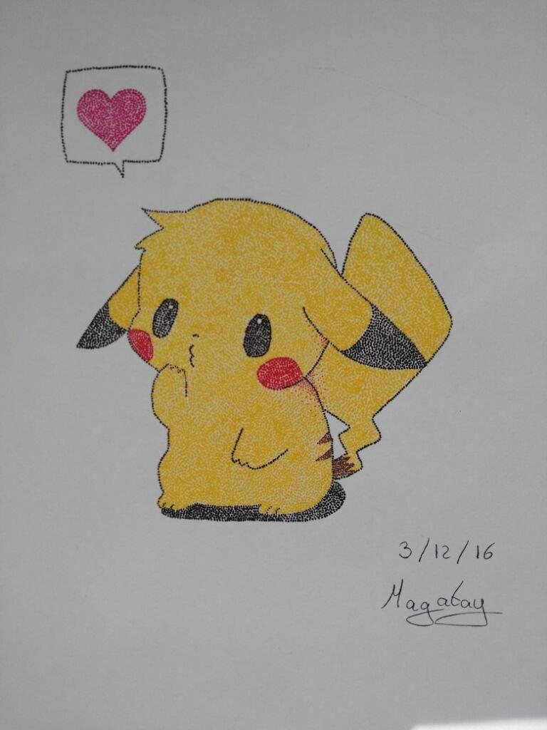 Pikachu puntillismo arte amino amino - Cuadros faciles de copiar ...