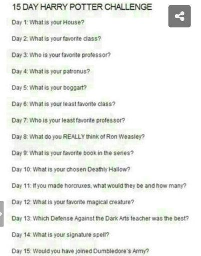 15 Day Harry Potter Challenge Harry Potter Amino