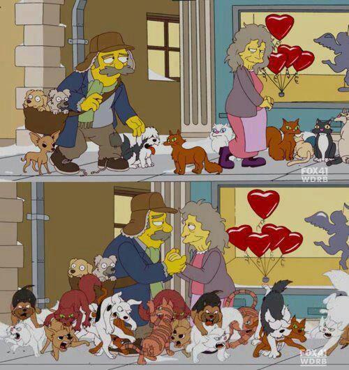 Simpsons Dog Cat Meme
