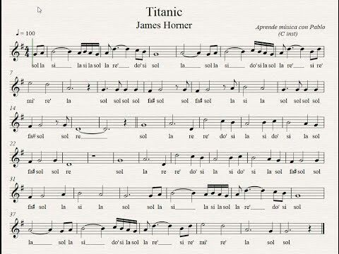 Partitura De Titanic Para Flauta Y Violin Etc Music Amino