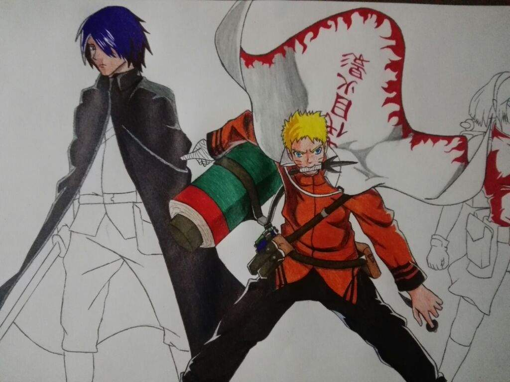 Dibujo De Naruto, Sasuke Y Sakura