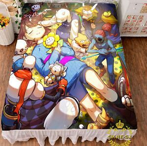 undertale sans and papyrus skeleton brother bed sheet blanket throw