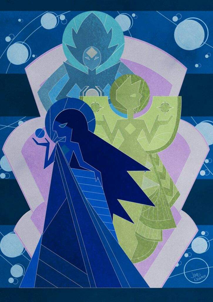 Steven universe the white diamond theory cartoon amino for Yellow diamond mural