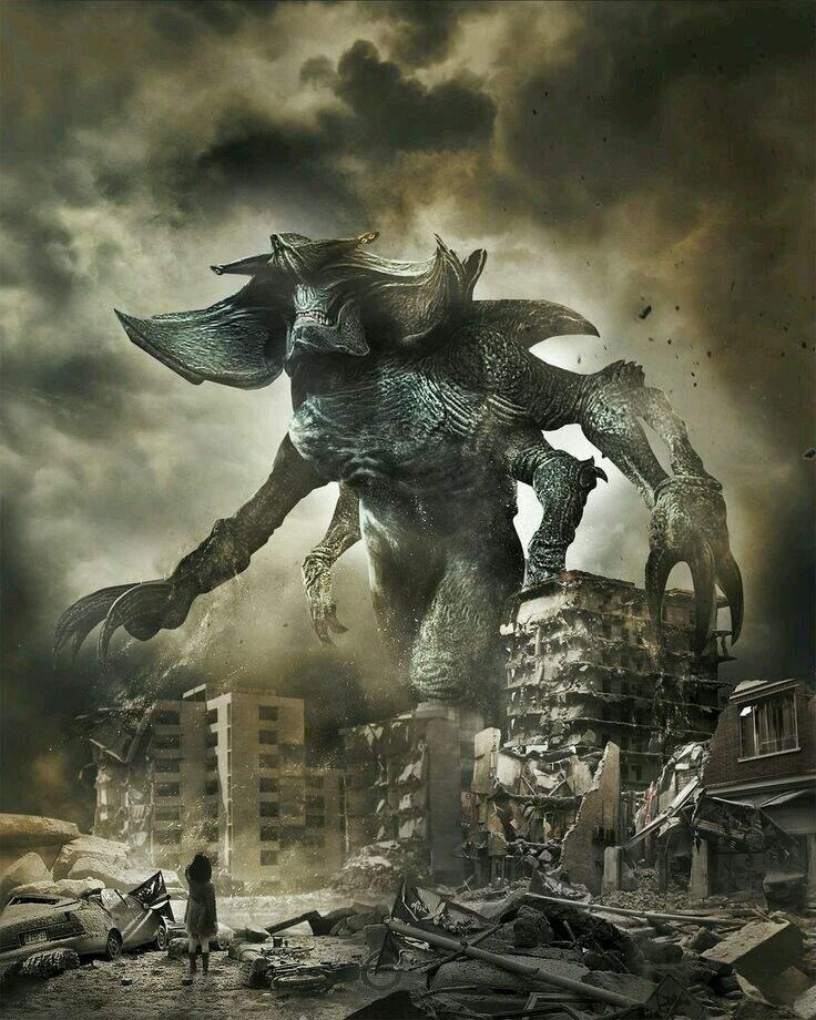 Godzilla 2 Imax Poster Textless: Pacific Rim ( Titanes Del Pacifico)