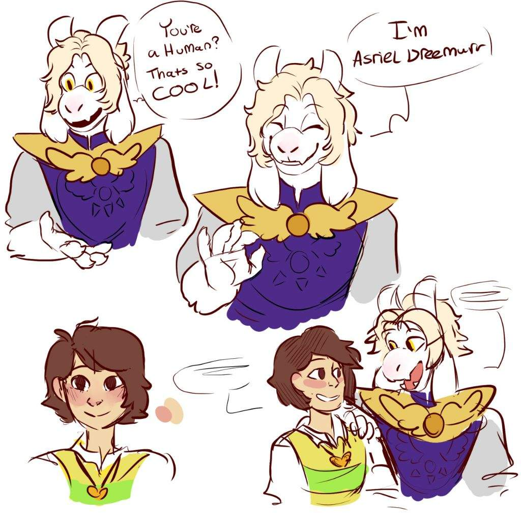 Asriel,Chara And Frisk