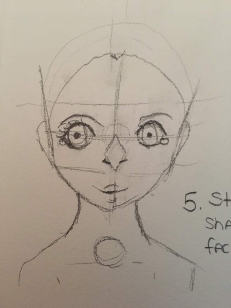 how to draw a basic face