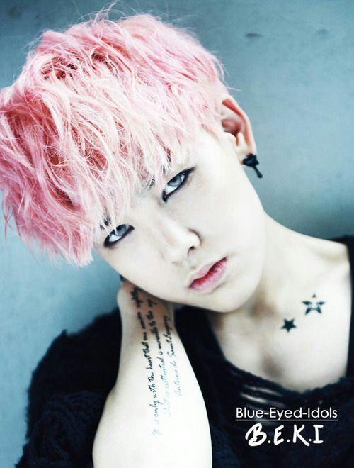 Zelo bap pink hair