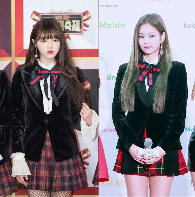 Fans are angry that Oh My Girlu0026#39;s outfits seem too similar to BlackPink Jennieu0026#39;s outfit | BLINK ...