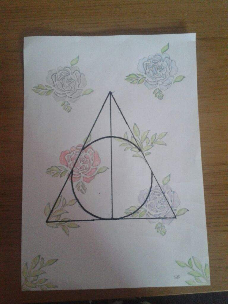 Deathly hallows symbol art harry potter amino i wish you a happy new year i hope you have a great time biocorpaavc