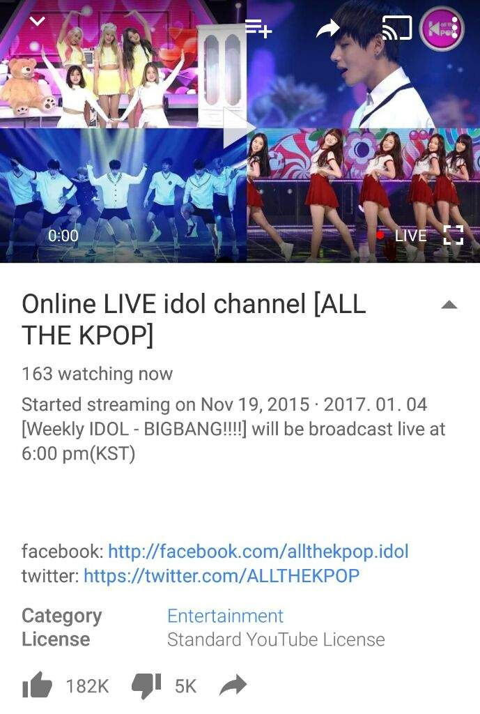 Online LIVE idol channel [ALL THE KPOP] | Big Bang Amino