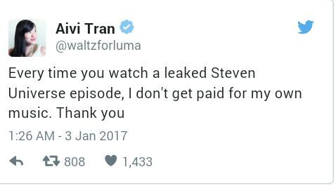 CN states they ment to leak those episodes  | Steven