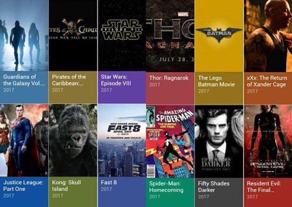 Movies 2017 list