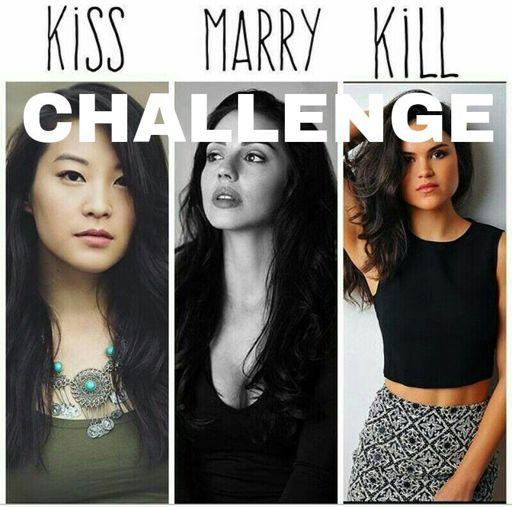 kiss marry kill challenge on tw amino