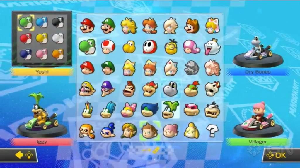 Nintendo Switch Mario Kart 8 Deluxe Character Icons