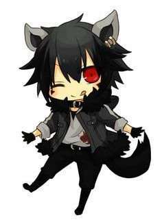 Cute Chibi Anime Wolf Boy