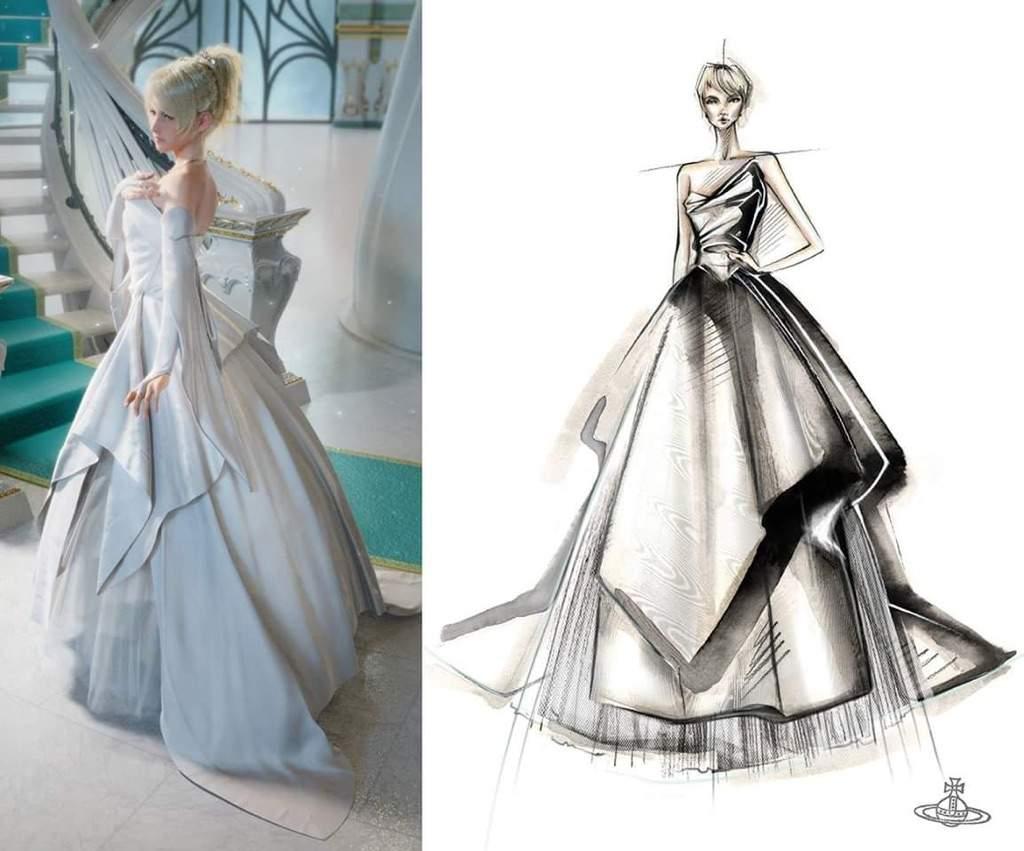 Lady lunafreya nox fleuret cosplay amino Wedding dress design app