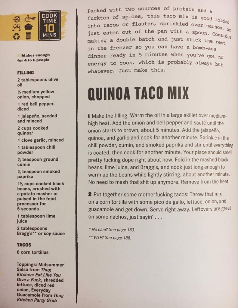 Thug Kitchen\'s Quinoa Taco Mix | Vegan Amino
