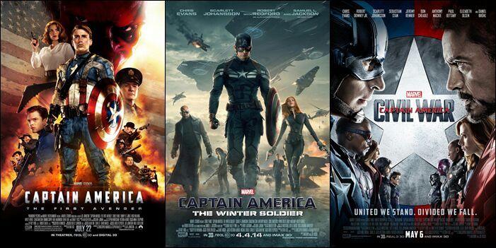 Trilogia Capitan America 1,2,3 2016 [BrRip 720p][Latino][MEGA]