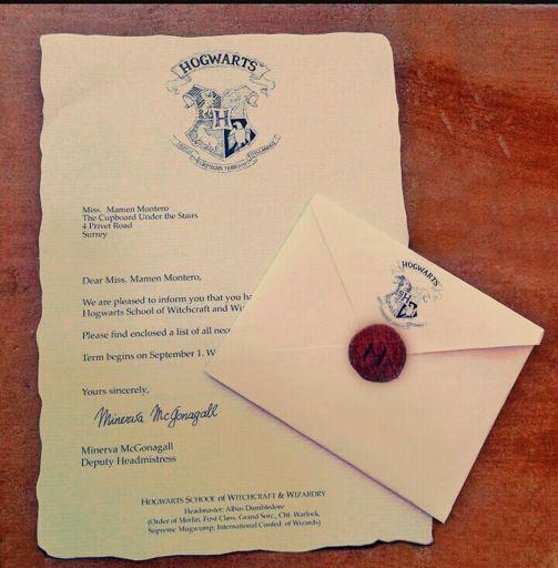 Tu Carta De Hogwarts Harry Potter Español Amino