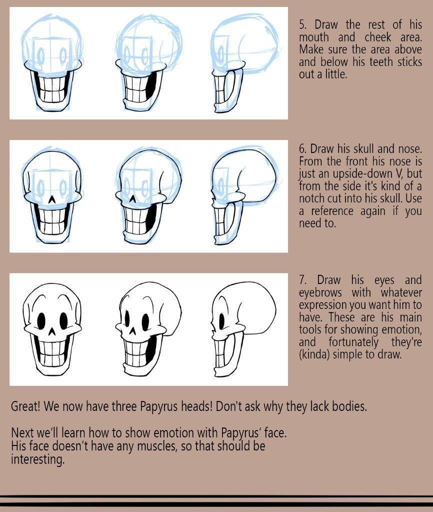 How To Draw Papyrus: A Tutoriel Undertale Amino How To Draw A Nose From The