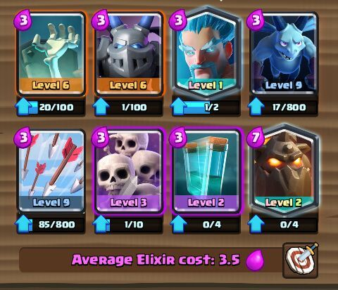 inferno dragon ice wizard deck arena 8