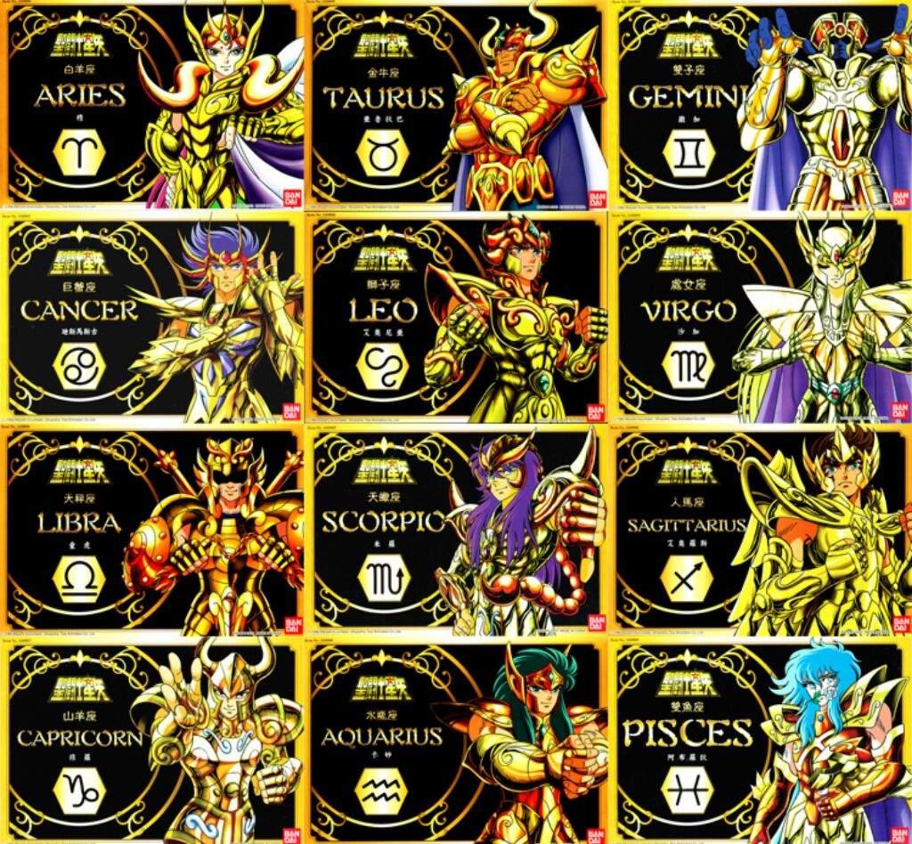 Las doce casas de los caballeros sagrados shonen - Los signos del zodiaco en orden ...