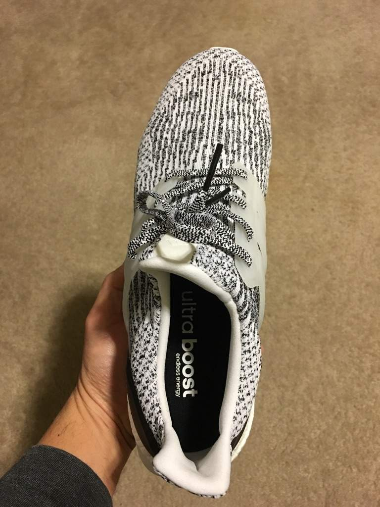 NEW DS Adidas Ultra Boost 3.0 Oreo Zebra Size 13 S80636 Black