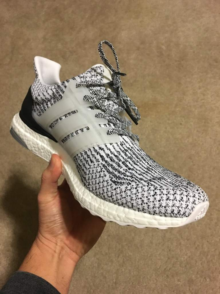 Adidas Ultra Boost 3.0 White Noise / Oreo / Zebra Colorway Sneaker