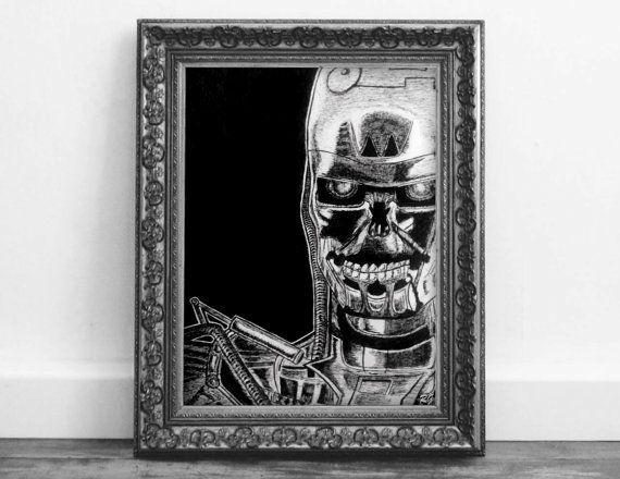 The Terminator T1000 Judgement Day Original Ink Artwork pop culture ...
