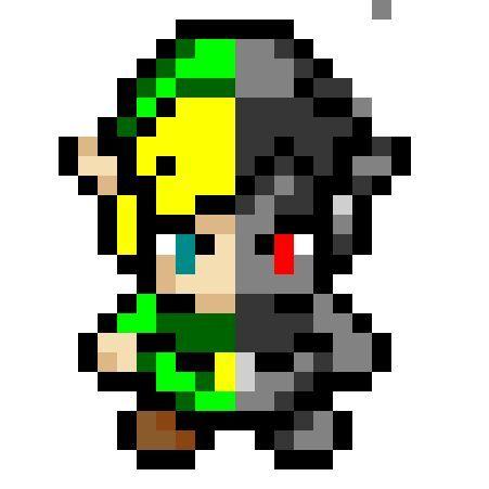 pixel art of linkdark link zelda amino